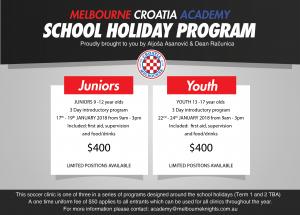 Melbourne Croatia Academy - school holiday program