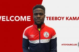 Teeboy Kamara joins MKFC